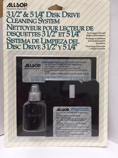 3.5 5.25 Floppy Disc Computer Disk Drive CLEANING KIT New Old Stock