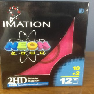 Floppy Disks 3.5 Inch Imation NEON 40880 2HD IBM Formatted 10 + 2 per box
