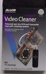 VHS Video Cassette VCR Head Tape & Tape Path Cleaner NEW ALLSOP